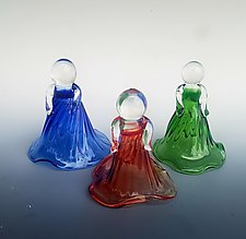 Hollyhock Dolls by Jacqueline McKinny (Glass Sculpture)