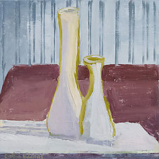 MidWinter Looking at Matisse and Studio Vases by Cynthia Eddings (Oil Painting)
