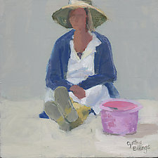 Bucket Hat Boots by Cynthia Eddings (Oil Painting)