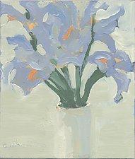 Iris 3 by Cynthia Eddings (Oil Painting)