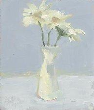 White Daisies by Cynthia Eddings (Oil Painting)