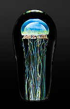 Moon Jellyfish Medium by Richard Satava (Art Glass Sculpture)