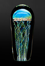 Moon Jellyfish Large by Richard Satava (Art Glass Sculpture)