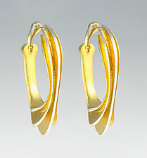 Gold-Plated Oceanic Dream by Shuang Feng (Gold & Silver Earrings)