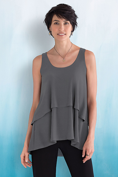 Sleeveless Cascade Tank