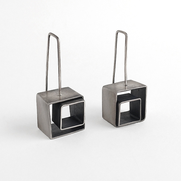 Cubes Squared Earrings