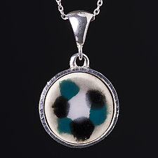 Abstract Porcelain Pendant by Diana Eldreth (Ceramic Necklace)