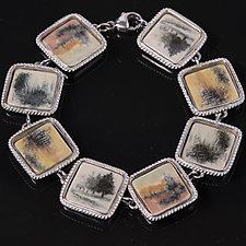 Porcelain Bracelet with Fields by Diana Eldreth (Ceramic Bracelet)