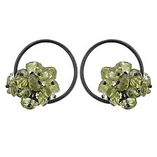 Small Adva Peridot Hoops by Michelle Pajak-Reynolds (Silver & Stone Earrings)