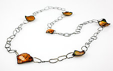 Ejecta Random Necklace by Lisa LeMair (Enameled Necklace)