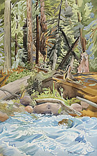 Deep in the Forest by the River by Meredith Nemirov (Watercolor Painting)