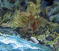 My Corner of the River by Meredith Nemirov (Watercolor Painting)