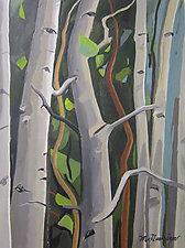 Dancing Aspen by Meredith Nemirov (Oil Painting)