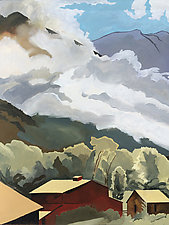 Clouds in the Valley by Meredith Nemirov (Oil Painting)