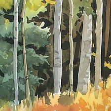 Autumn Aspens by Meredith Nemirov (Giclee Print)