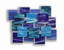 Cascade Accent Piece by Karo Martirosyan (Art Glass Wall Sculpture)