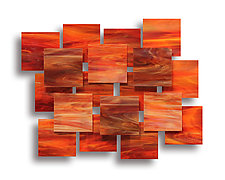 Sunset Accent Piece by Karo Martirosyan (Art Glass Wall Sculpture)