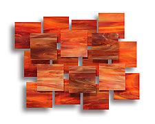 Sunset Accent Piece by Karo Martirosyan (Art Glass Wall Sculpture)