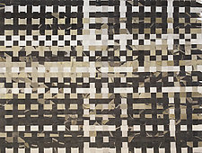 Woven - Black/White/Tan by Meredith Nemirov (Mixed-Media Wall Hanging)