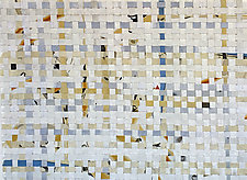 Woven - Gray/White/Tan by Meredith Nemirov (Mixed-Media Wall Hanging)
