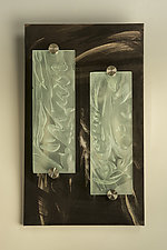 Double Time by Susan Bloch (Art Glass & Wood Wall Sculpture)