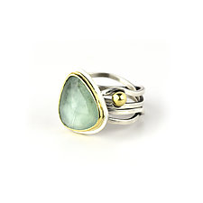 Aquamarine Calm & Chaos Ring by Janet Blake (Gold, Silver & Stone Ring)