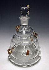 Beehive Perfume Bottle by Sage Churchill-Foster (Art Glass Perfume Bottle)