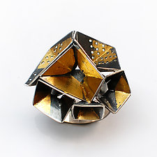 Origami Ring #2 by Sophia Hu (Gold & Silver Ring)
