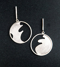 Ocean Dreams I Earrings by Marcia Meyers (Silver Earrings)