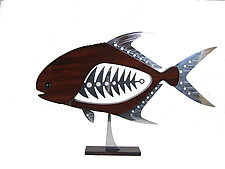 Permit by Mark Gottschalk (Wood & Metal Sculpture)