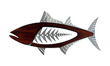 Bluefin Tuna by Mark Gottschalk (Wood & Metal Wall Sculpture)