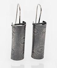Polka Dot Column Earrings by Jane Pellicciotto (Silver Earrings)