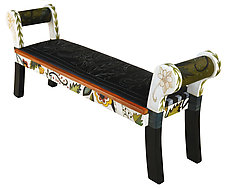 Vine Bench by Sticks (Wood Bench)