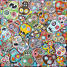Day of the Dead by Michal Golan (Ceramic Wall Sculpture)
