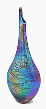 Spider Teardrop Vase by Minh Martin (Art Glass Vase)