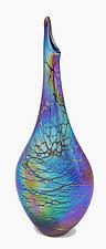 Spider Teardrop Vase by Minh Martin (Art Glass Vase)