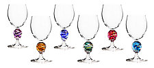 Planet Water Glasses by Minh Martin (Art Glass Drinkware)