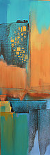 Blue Abstraction II by Nicholas Foschi (Acrylic Painting)