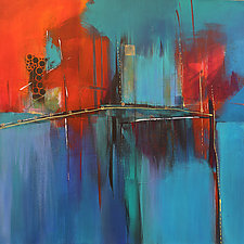 Waterway by Nicholas Foschi (Acrylic Painting)