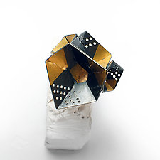 Origami Ring #1 by Sophia Hu (Gold & Silver Ring)
