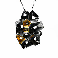 Origami Necklace #1 by Sophia Hu (Gold & Silver Necklace)