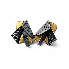 Origami Earrings #4 by Sophia Hu (Gold & Silver Earrings)