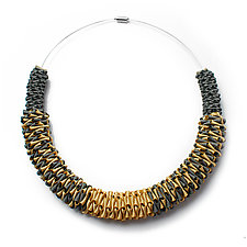 Turning Necklace by Sophia Hu (Polyester & Stainless Steel Necklace)