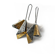 Wings Earrings by Sophia Hu (Gold & Silver Earrings)