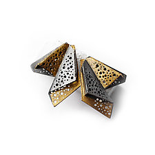 Wings Earrings by Sophia Hu (Gold & Silver Earrings)