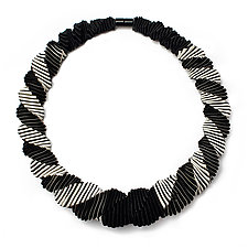 Turning Necklace #3 by Sophia Hu (Polyester & Steel Necklace)
