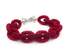 Woven Chain Bracelet by Claudia Fajardo (Beaded Bracelet)