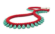 Drop Beaded Necklace by Claudia Fajardo (Beaded Necklace)