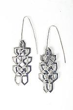 Cascading Earrings by Diana Eldreth (Silver Earrings)