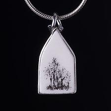 Tree House Pendant by Diana Eldreth (Ceramic Necklace)